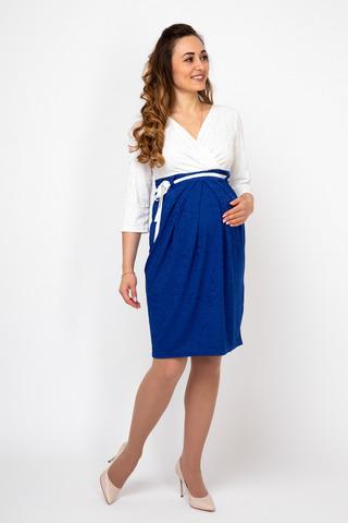 Платье 07986 белый-синий