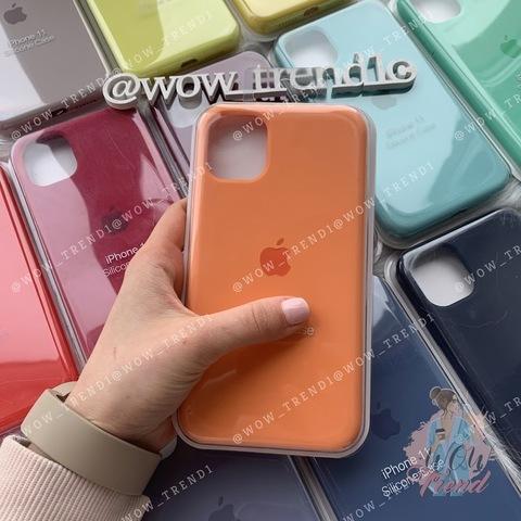 Чехол iPhone 11 Pro Max Silicone Case Full /papaya/