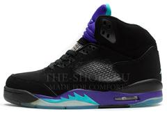 Кроссовки Женские Nike Air Jordan 5 Retro Black Grey Violet