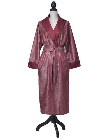 Элитный халат сатиновый Katharina гранатовый от Curt Bauer