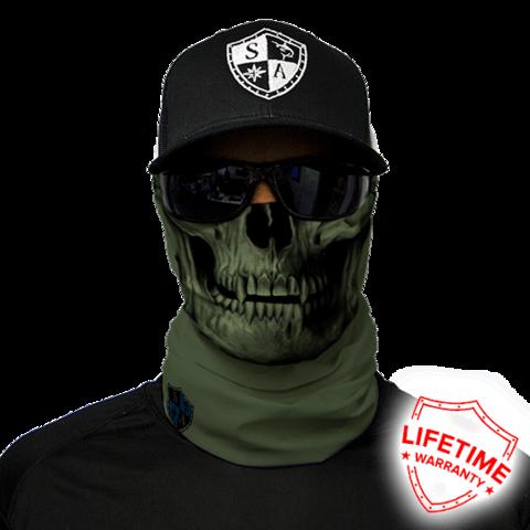 Бандана-труба с черепом SA Tactical Od Green Skull