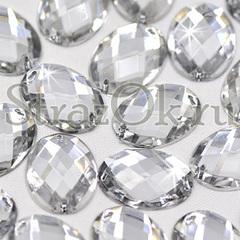 Купить стразы оптом дешево пришивные акриловые Oval Crystal