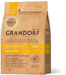 Сухой корм Grandorf Probiotics 4meat & Brown Rice Adult Mini от 1 года