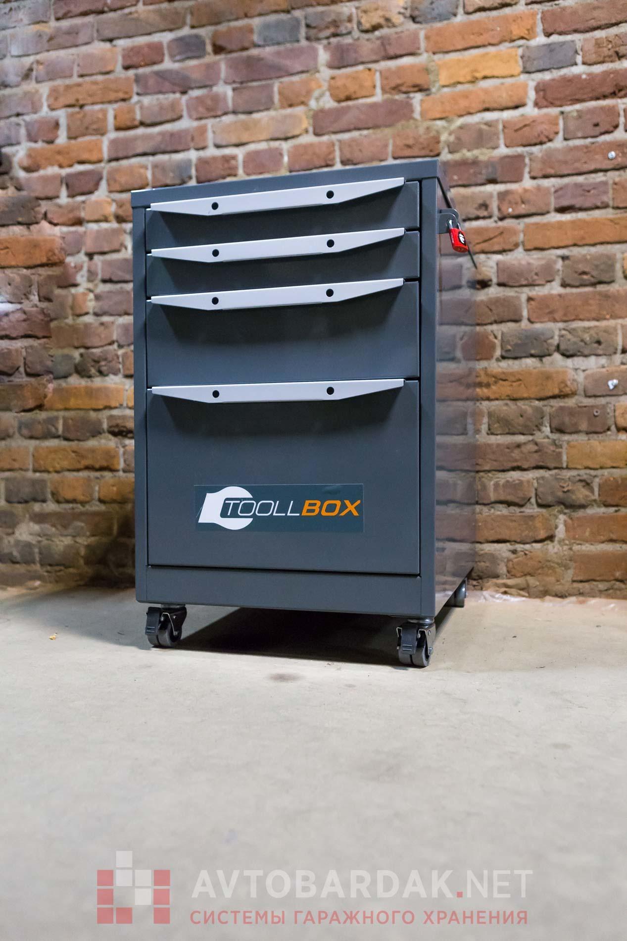 Тумба инструментальная серии ТВК на колесиках. Нагрузка 80 кг.