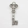 """Подвеска """"Ключ"""" 3 D(цвет - античное серебро) 31х12 мм"""