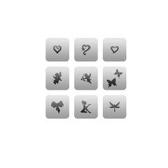 Трафарет для ногтей 9 шт. /1 уп. № CL 15