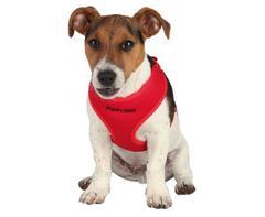 Trixie Шлейка-жилетка для щенков с поводком, 33-47 см/10 мм, 2 м красный