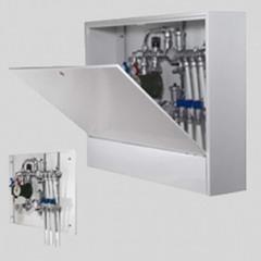 Шкаф коллекторный металлический накладной глубокий UNI-FITT 550х650х180