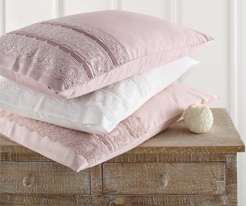 Постельное белье Gelin Home  JESSICA  крем, темно-розовый евро