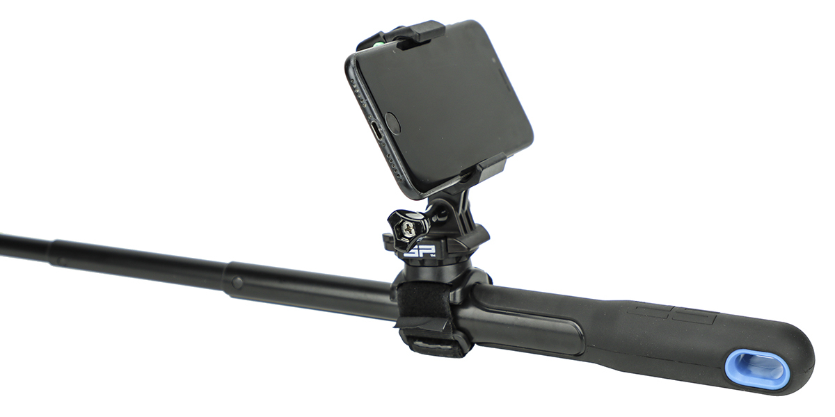 Крепление для телефона SP Phone Mount вариант использования на моноподе