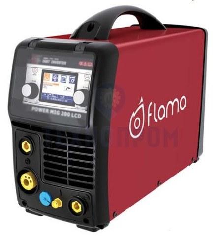 Сварочный полуавтомат инверторный многофункциональный с синергетическим управлением Flama POWER MIG 200 LCD