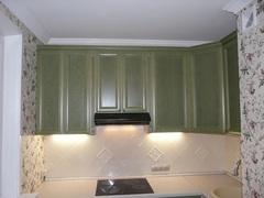 Кухня угловая зел