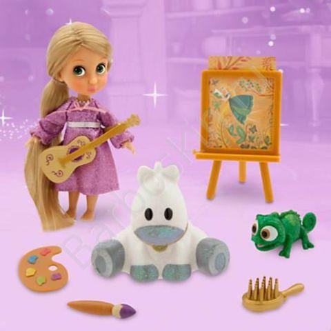 Игровой набор Кукла малышка Рапунцель (Rapunzel) в чемоданчике с игрушками - Rapunzel, Disney Animators' Collection