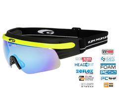 Элитные лыжные очки-маска Goggle Shima+  Yellow-Rainbow 2019