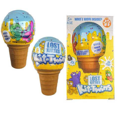 Коллекционная игрушка Lost Kitties  Kit-Twins мороженое 2 серия 1кор*1бл*1шт