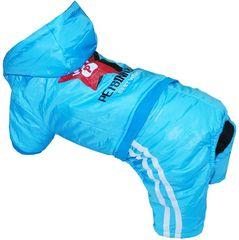Уют Комбинезон с капюшоном синий, Звезды, размер L, длина 30 (1*50)