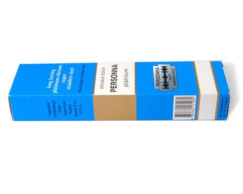 Блок лезвий для бритья Personna Platinum 10 шт 20 пачек=200 лезвий