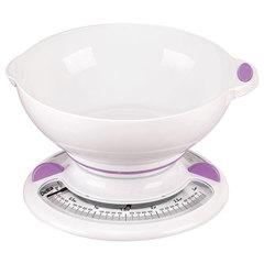 Весы бытовые настольные  3 кг DELTA КСА-103 с чашей белые с фиолетовым