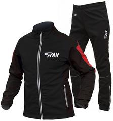 Утеплённый лыжный костюм RAY Pro Race WS Black-Red 2018 мужской