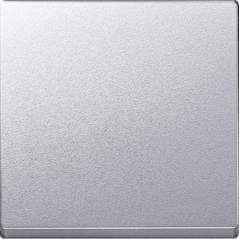 Выключатель одноклавишный клавишный. Цвет Алюминий. Merten. MTN3111-0000+MTN433160