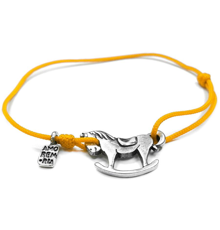 Horse bracelet, sterling silver
