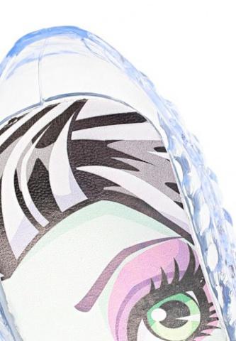 Шлепанцы Монстер Хай (Monster High) резиновые балетки для девочки, цвет прозрачный. Изображение 8 из 8.