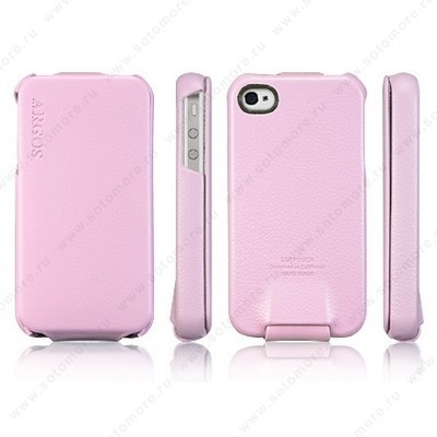 Чехол SGP для Apple iPhone 4 - SGP Leather Case Argos Series Pink
