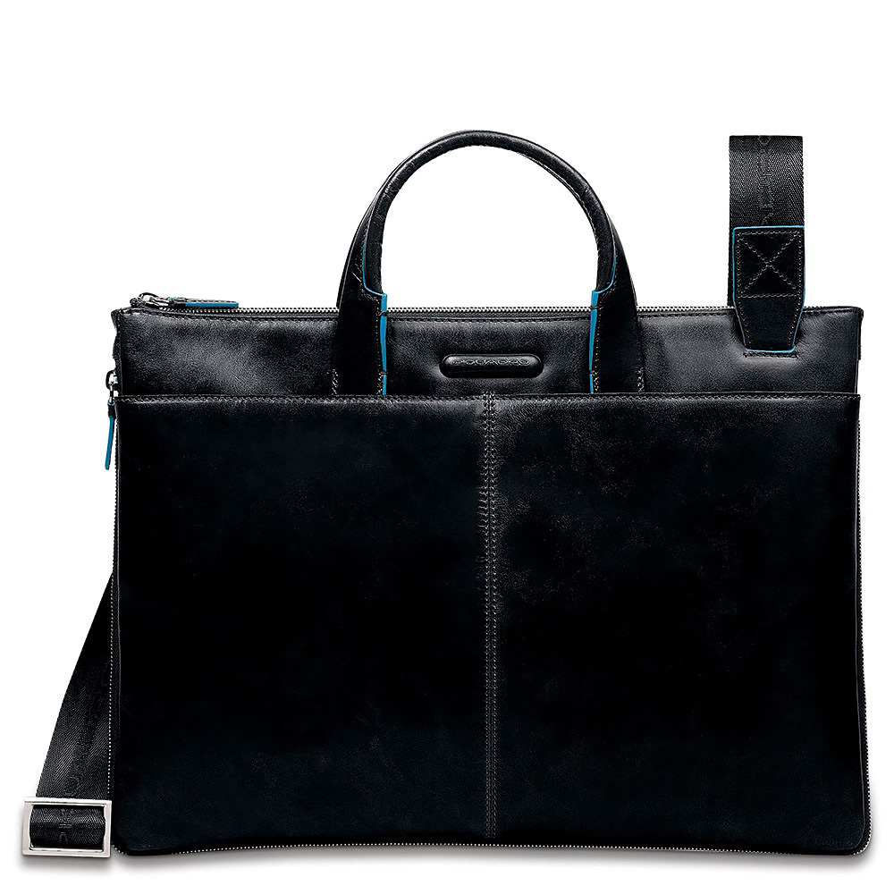 Сумка Piquadro Blue Square, цвет черный, 29,5x40x3,5 см (CA1618B2/N)