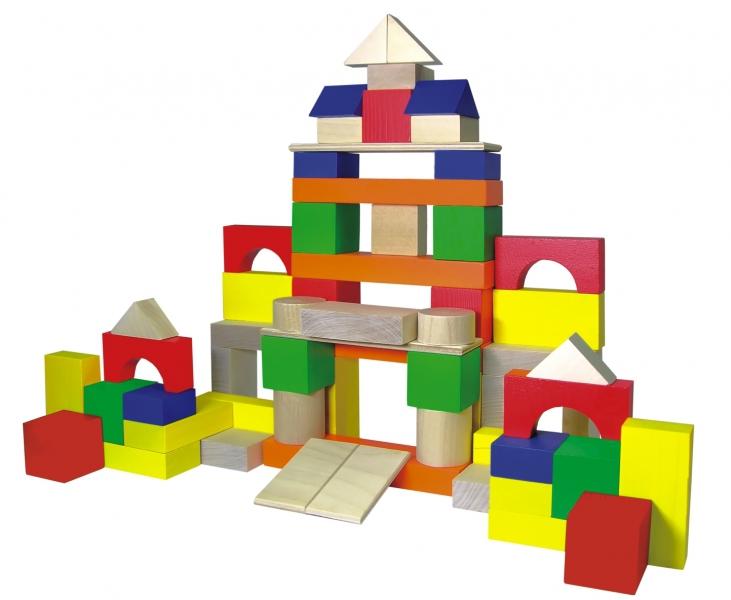 Деревянный конструктор Строим сами 66 деталей Краснокамская Игрушка