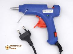 Клеевой пистолет для силиконовых палочек СИНИЙ диаметром 7 мм