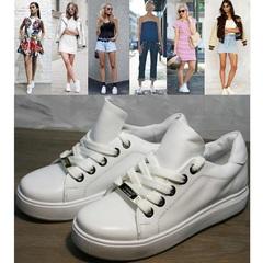 Женские кеды белые Molly shoes 557 Whate
