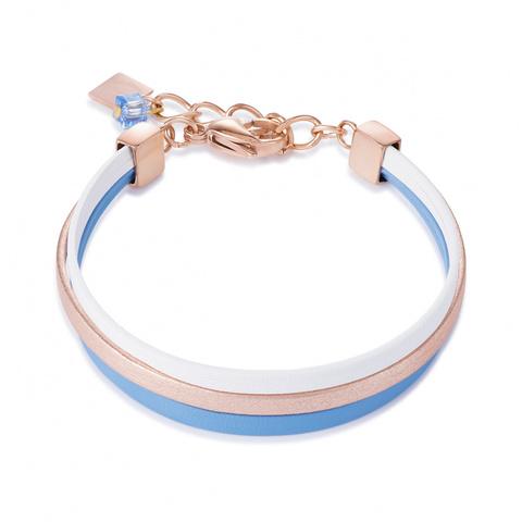 Браслет Coeur de Lion 0221/30-0714 цвет голубой, бежевый, белый