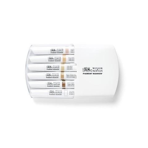 Набор маркеров Pigment Marker 6шт оттенки кожи