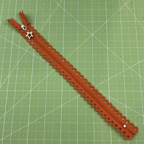 Молния  декоративная  25 см (оранжевая).