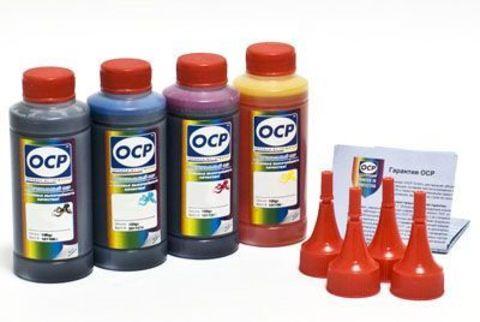 Кoмплект чернил OCP для картриджей Canon PG-445/CL-446 принтеров MG 2540/2440; IP 2840 (BKP 44, C/M/Y 136), 100 gr x 4