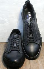 Кеды черные мужские Komcero 9K9154-734 Black-Grey