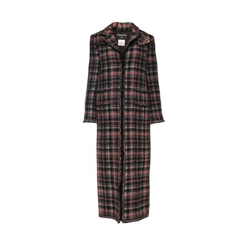 Роскошное твидовое пальто в пол от Chanel, 40 размер.