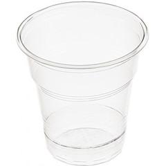 Стакан одноразовый 100 мл пластик, п/прозрач, ПП, для хол/гор, 20шт./