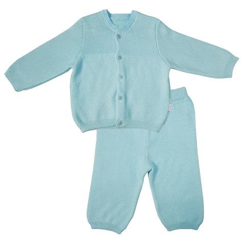 Папитто. Комплект кофточка и штанишки с принтом, голубой