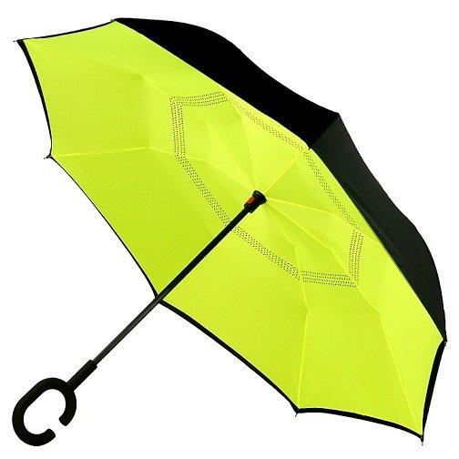 Часы/Рюкзаки/Зонты Зонт наоборот Желтый 1654_1.jpg