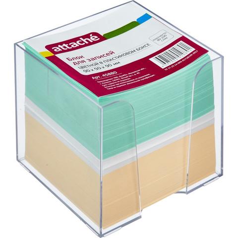 Блок-кубик ATTACHE в стакане 9х9х9 цветной блок