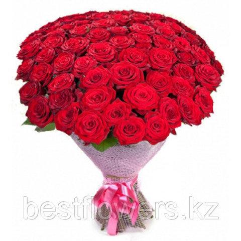 Букет из 75 роз (местные)