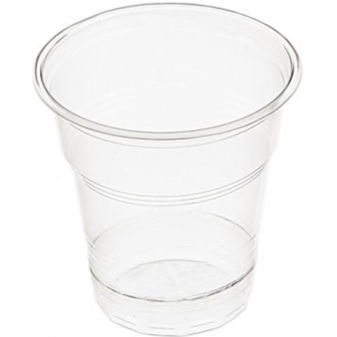 Стакан одноразовый 100 мл пластик прозрачный, ПП, Эконом, 100шт./уп.