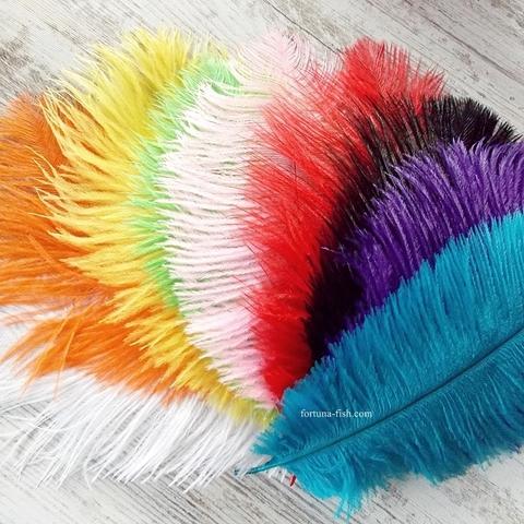 Цельные перья страуса Ostrich Mini Plumes