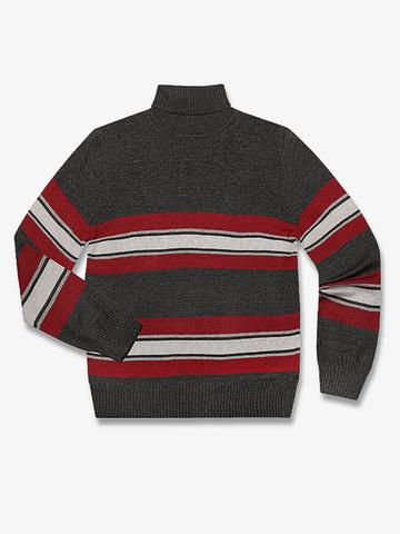 BSW000975 свитер детский, тем.серый/серый
