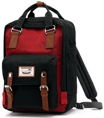 Рюкзак Nikki Macaroon Черный + Красный