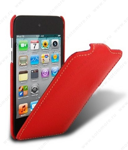 Чехол-флип Melkco для Apple iPod Touch 4th Leather Case Jacka Type (Red LC)