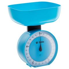 Весы бытовые настольные  5 кг DELTA КСА-104 с чашей голубые