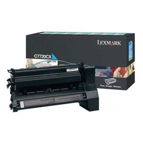 Картридж для принтеров Lexmark C772 голубой (cyan). Ресурс 15000 стр (C7720CX)