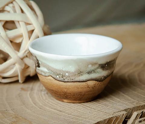 Керамическая пиала для чая ручная работа, серия «Млечный Путь»